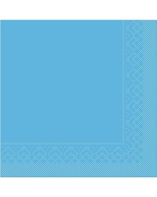 Servet Tissue 3 laags 40x40cm 1/4 vouw Uni Aquablauw