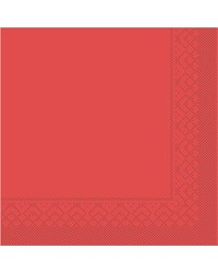 Servet Tissue 3 laags Rood 40x40cm 1/4 vouw bestellen