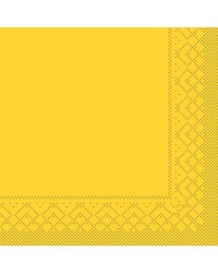 Servet Tissue 3 laags Geel 40x40cm 1/4 vouw bestellen