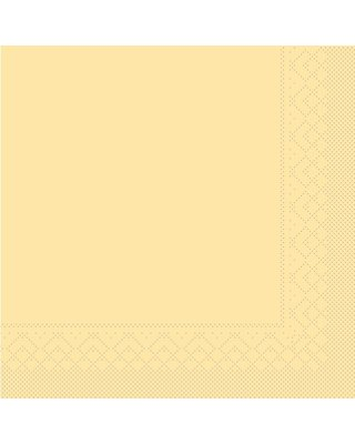 Servet Tissue 3 laags 40x40cm 1/4 vouw Uni Creme