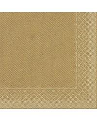 Servet Tissue 3 laags Goud 40x40cm1/4 vouw  bestellen