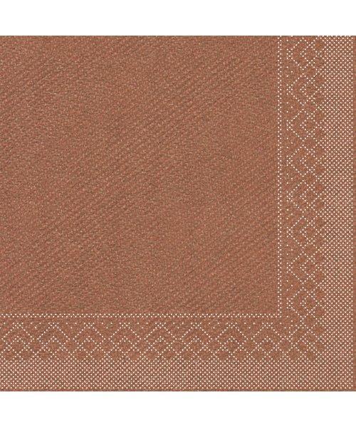 Servet Tissue 3 laags Brons 40x40cm 1/4 vouw bestellen