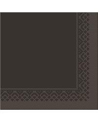 Servet Tissue 3 laags Bruin 33x33cm 1/4 vouw bestellen
