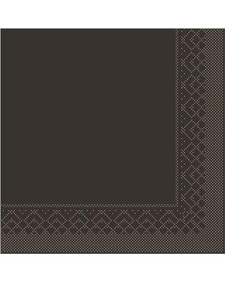 Servet Tissue 3 laags 33x33cm 1/4 vouw Uni Bruin