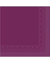 Servet Tissue 3 laags Aubergine 33x33cm 1/4 vouw bestellen