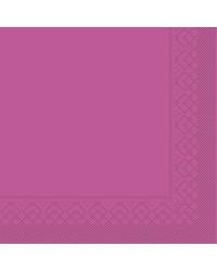 Servet Tissue 3 laags Violet 33x33cm 1/4 vouw  bestellen