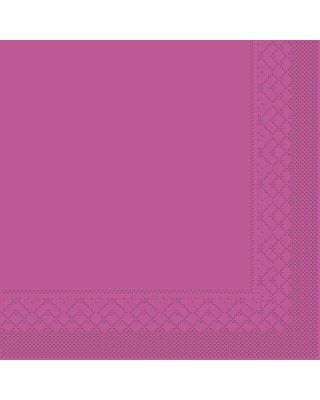 Servet Tissue 3 laags 33x33cm 1/4 vouw Uni Violet