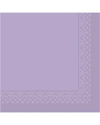 Servet Tissue 3 laags 33x33cm 1/4 vouw Uni Lila