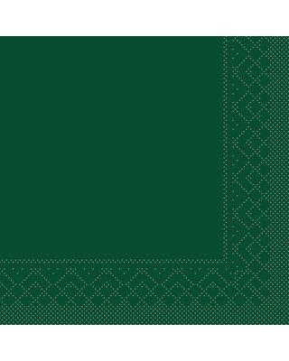 Servet Tissue 3 laags 33x33cm 1/4 vouw  Uni Groen