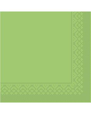 Servet Tissue 3 laags 33x33cm 1/4 vouw Uni Kiwi
