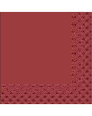 Servet Tissue 3 laags 33x33cm 1/4 vouw Uni Bordeaux