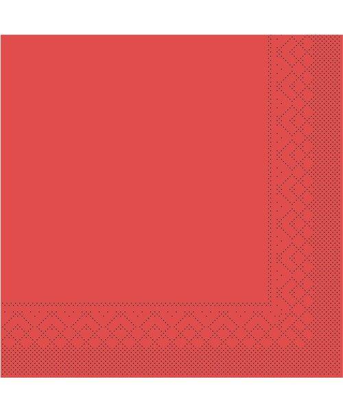 Servet Tissue 3 laags Rood 33x33cm 1/4 vouw bestellen