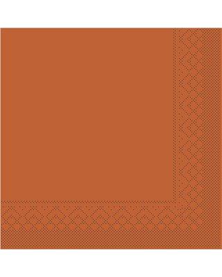 Servet Tissue 3 laags 33x33cm 1/4 vouw Uni Terra