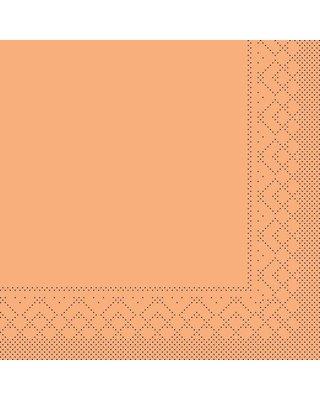 Servet Tissue 3 laags 33x33cm 1/4 vouw Uni Abrikoos