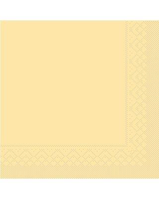 Servet Tissue 3 laags 33x33cm 1/4 vouw Uni Creme