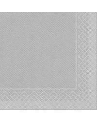 Servet Tissue 3 laags Zilver 33x33cm 1/4 vouw bestellen