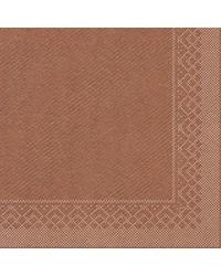Servet Tissue 3 laags Brons 33x33cm 1/4 vouw bestellen