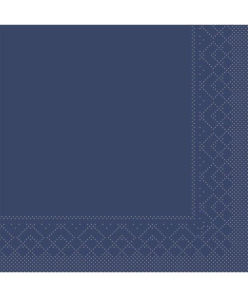 Servet Tissue 3 laags Blauw 33x33cm 1/8 vouw bestellen
