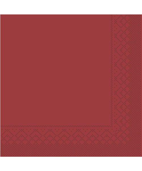Servet Tissue 3 laags Bordeaux 33x33cm 1/8 vouw bestellen