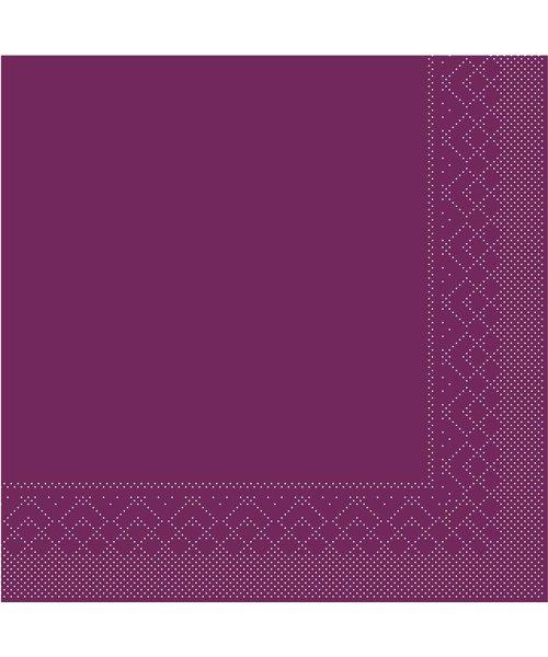Servet Tissue 3 laags Aubergine 40x40cm 1/8 vouw bestellen