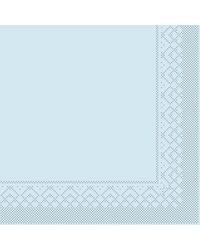 Servet Tissue 3 laags Lichtblauw 40x40cm 1/8 vouw bestellen