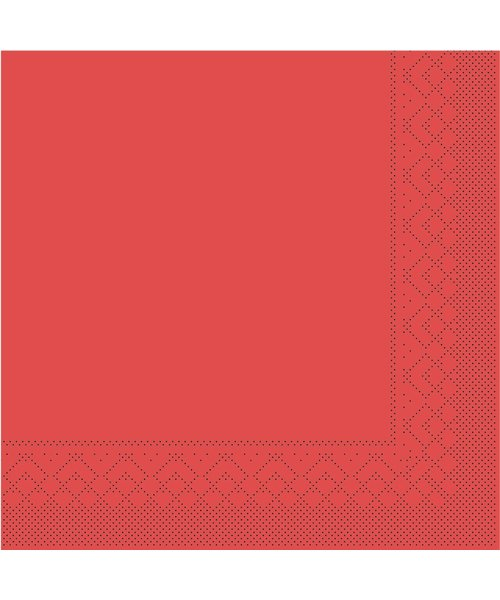 Servet Tissue 3 laags Rood 40x40cm 1/8 vouw bestellen