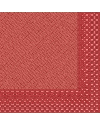 Servet Tissue Deluxe 4 laags 40x40cm Uni Rood