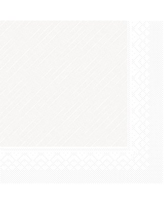 Servet Tissue Deluxe 4 laags 40x40cm Uni Wit