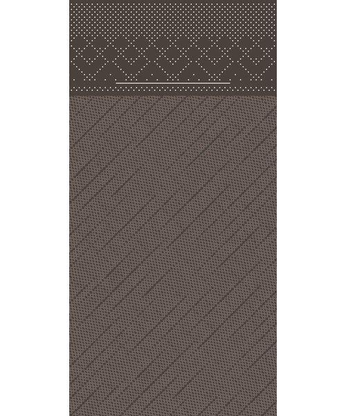 Pocket napkin Tissue Deluxe Bruin 40x40cm 4 Lgs  1/8 vouw bestellen