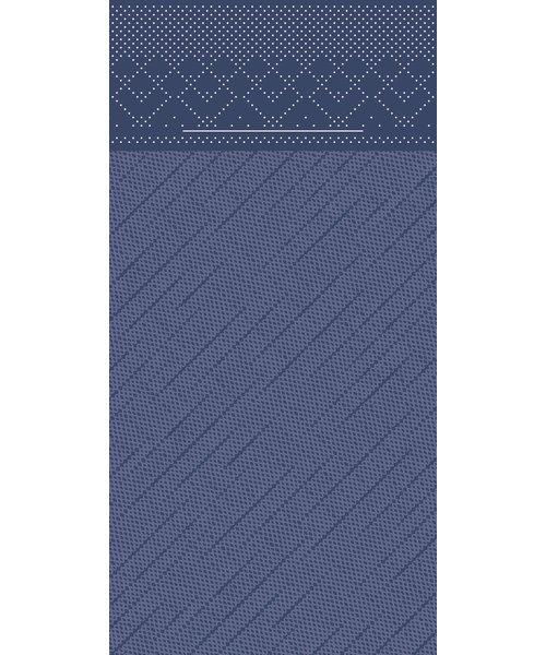 Pocket napkin Tissue Deluxe Blauw 40x40cm 4 Lgs  1/8 vouw bestellen