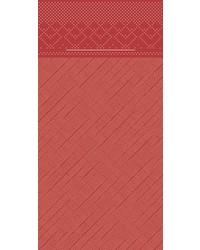 Pocket napkin Tissue Deluxe Rood 40x40cm 4 Lgs  1/8 vouw bestellen