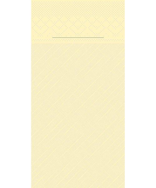 Pocket napkin Tissue Deluxe Creme 40x40cm 4 Lgs  1/8 vouw bestellen