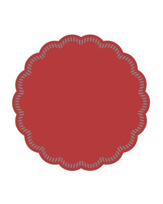 Onderzetters rond Rood 90mm, 9 laags