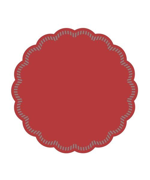 Onderzetters rond Rood 90mm, 9 laags bestellen
