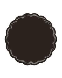 Onderzetters rond Zwart 90mm, 9 laags  bestellen