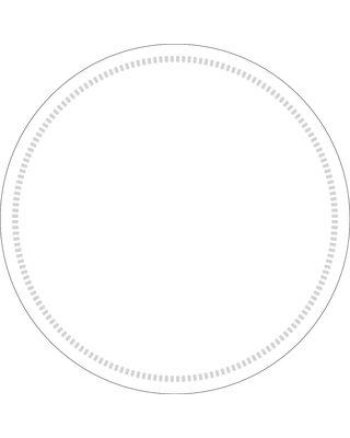 Onderzetters rond Wit 90mm, 8 laags