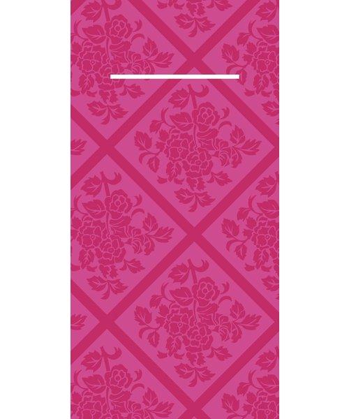 Pocket napkin Airlaid Damast Violet 40x40cm  65 Gr 1/8 vouw bestellen