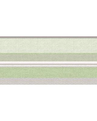 Tafelloper Airlaid Lagos Grijs/Groen 40cm X24m