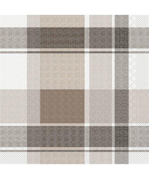 Servet Tissue 3 laags Marc Bruin/Zwart 33x33cm bestellen
