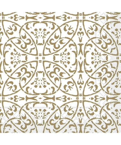 Servet Tissue 3 laags Claudio Goud 33x33cm bestellen