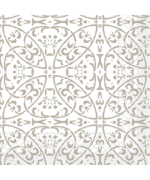 Servet Tissue 3 laags Claudio Grijs 33x33cm bestellen