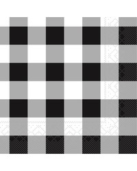 Servet Tissue 3 laags Karo Zwart 33x33cm bestellen