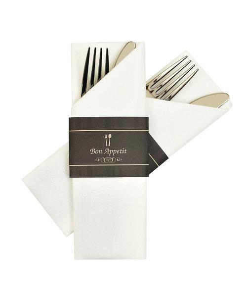 Napkin Sleeves Bon Appetit Zwart  bestellen