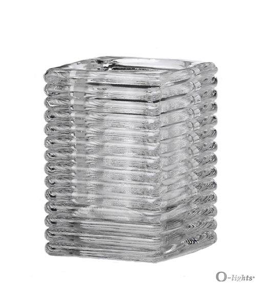 Q-Lights® Square Ribbed Glass Helder bestellen