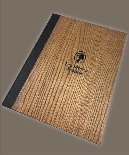 Originele houten menukaarten