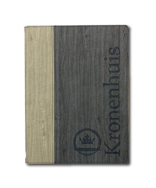 Menukaarten Bi-Color Woodline