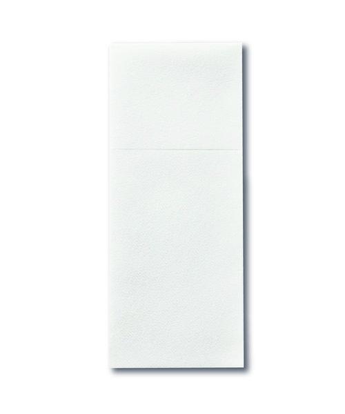 Airlaid Pochette Economy met bestekvouw wit bestellen