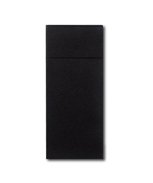 Airlaid Pochette Luxury met bestekvouw Zwart bestellen