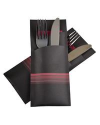 Bestekzakje Stripe Burgundy POCH 013 bestellen