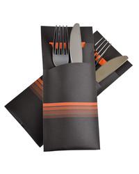 Bestekzakje Stripe Orange POCH 015 bestellen